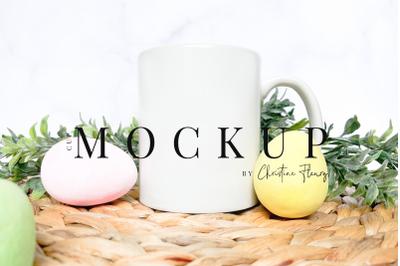 Easter Eggs Mug Mockup - Easter Mockup