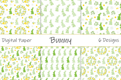 Easter Bunny pattern. Happy easter pattern. Easter Bunny SVG