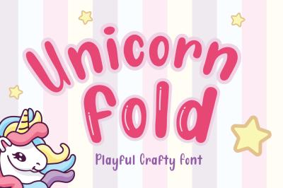 Unicorn Fold - Display Font