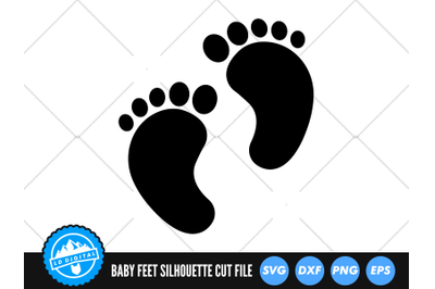 Baby Feet SVG   Baby Feet Silhouette Cut File