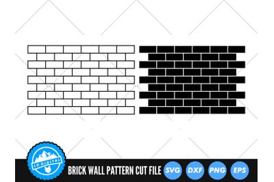 Brick Wall Pattern SVG | Brick Wall Silhoutte Cut File