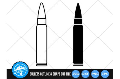 Rifle Bullet SVG   Rifle Bullet Silhouette Cut File