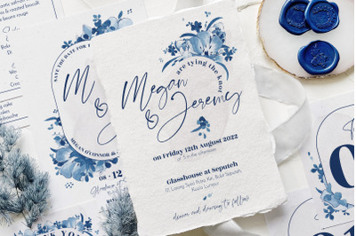 Elegant Delft Blue Wedding Suite