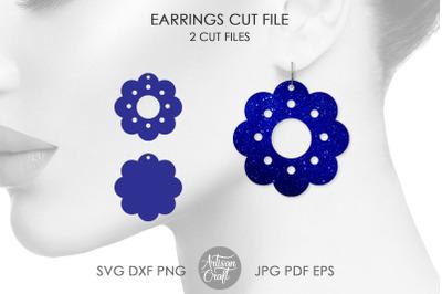 Flower earrings SVG