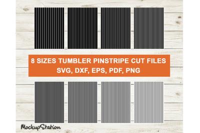 Tumbler Pinstripes SVG Cut Files, Stripes DXF