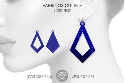 Open teardrop earrings, SVG cut file