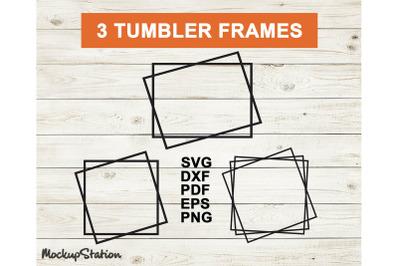 Tumbler Frame SVG Template, Frame Cut File DXF