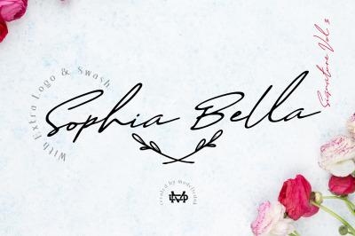 Sophia Bella - Signature Font