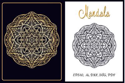 Mandala. Cut and emboss template