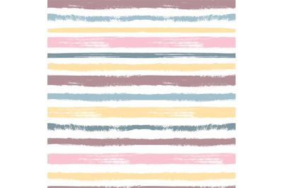 Brush pattern. Pastel stripes, grunge graphic colorful seamless textur