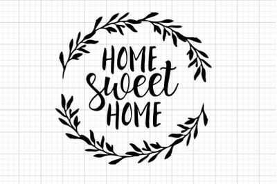 Home Sweet Home SVG Clipart