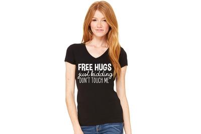 Free Hugs Just Kidding Svg Printable