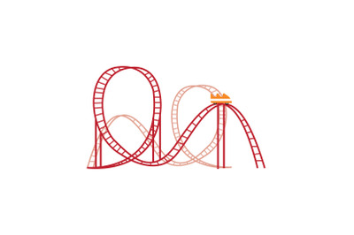 Amusement Parks roller coaster Icon