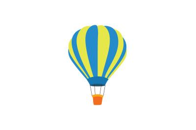 amusement air balloon flat icon