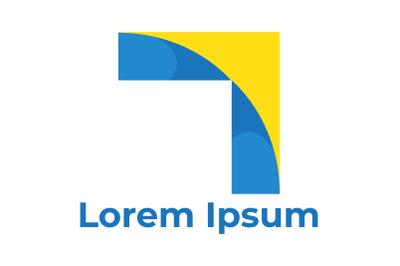Business Logo Yellow Corner