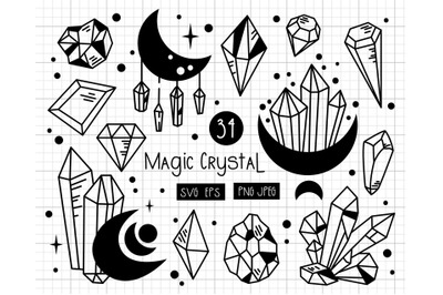 Magic Crystals - SVG set