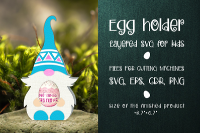 Nordic Gnome - Chocolate Egg Holder Template SVG