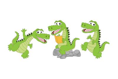 cute alligator animal cartoon