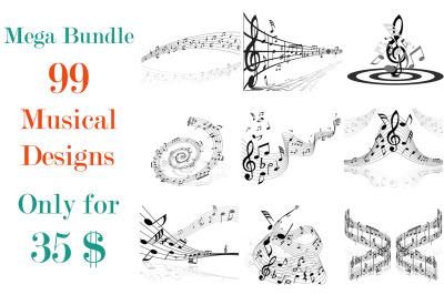 Musical Notes Design Bundle