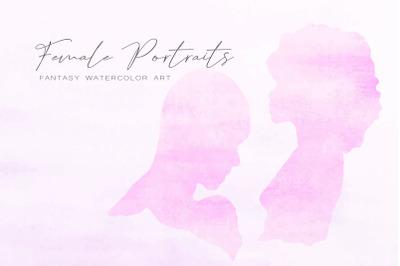 Watercolor Female Portraits