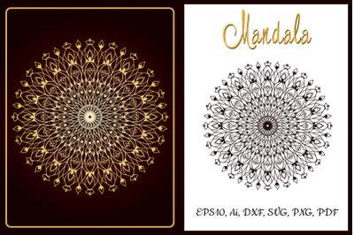 Mandala SVG. Cut and emboss template