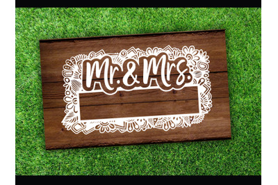Wedding SVG cut file Mr and Mrs