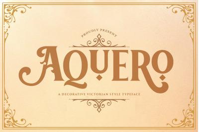 Aquero - Victorian Decorative Font