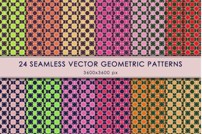 Set of symmetrical geometric backgrounds