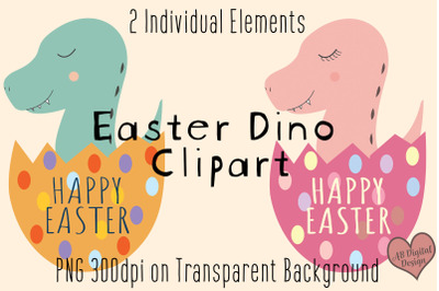 Easter Dinosaur Clipart, Baby Kids Easter Clipart, PNG