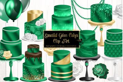 Emerald Green Cakes Clip Art