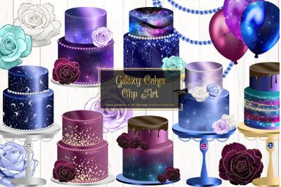 Galaxy Cakes Clip Art