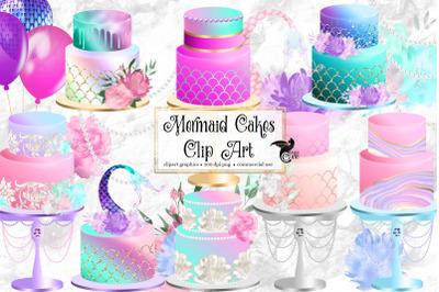 Mermaid Cakes Clip Art