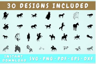Horse SVG Bundle - 30 Designs, Cricut Cut Files