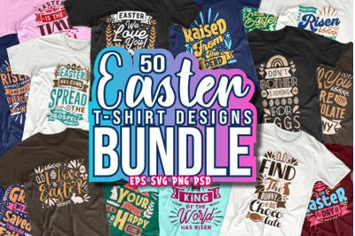 Easter Day T-shirt Designs Typography Hand Drawn Lettering