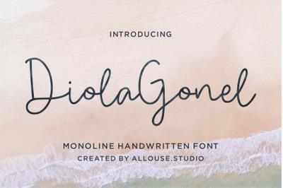 Diola Gonel - Monoline Handwritten