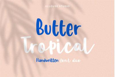 Butter Tropical - Handwritten Font Duo