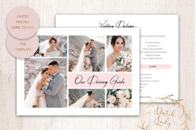 PSD Photo Price Card Template #22