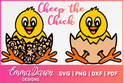 CHEEP THE CHICK SVG, Cute Easter Chick SVG