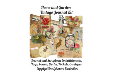 House and Garden Vintage Journal Kit