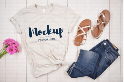 Beige Summer Shirt Mockup