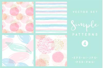 Simple patterns. Vector set 4 prints