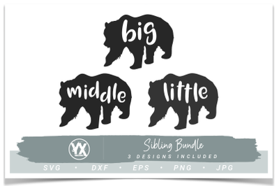 Sibling Set - Big, Middle, Little Bear