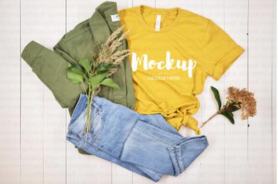 Yellow T-Shirt Mockup