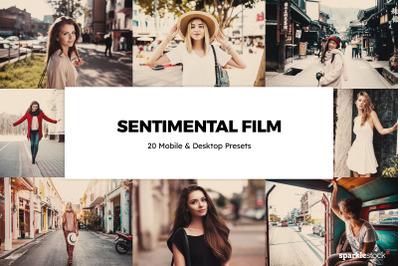 20  Sentimental Film LR Presets