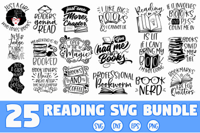 Reading Book SVG Bundle