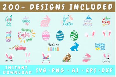 Easter SVG Mega Bundle - 214 Designs, Cricut Cut Files