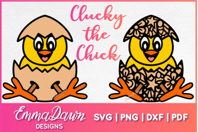 CLUCKY THE CHICK SVG EASTER CHICK DESIGN