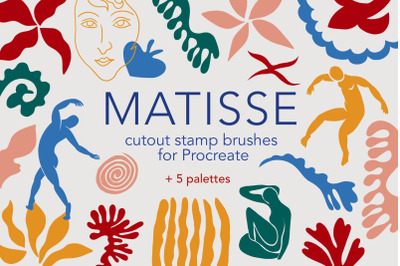 Matisse cutout procreate stamp brushes