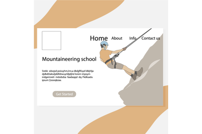Mountaineering school page, website to self study to ascent