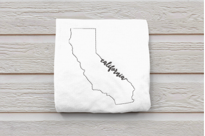 Linework State of California | Embroidery